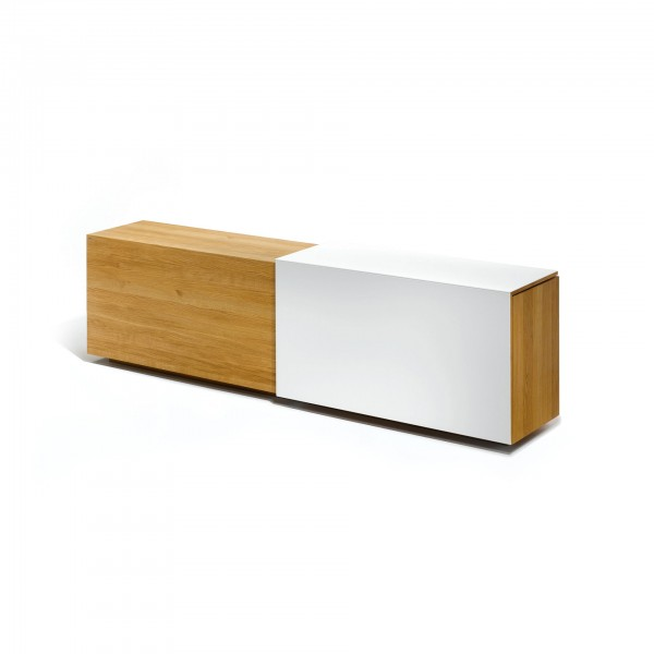 Cubus In Motion sideboard with angled sliding door - Lifestyle
