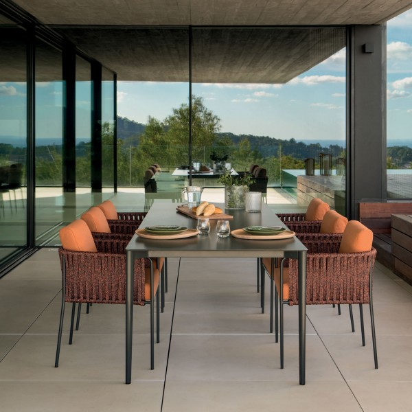 Nude outdoor rectangular dining table - Image 1