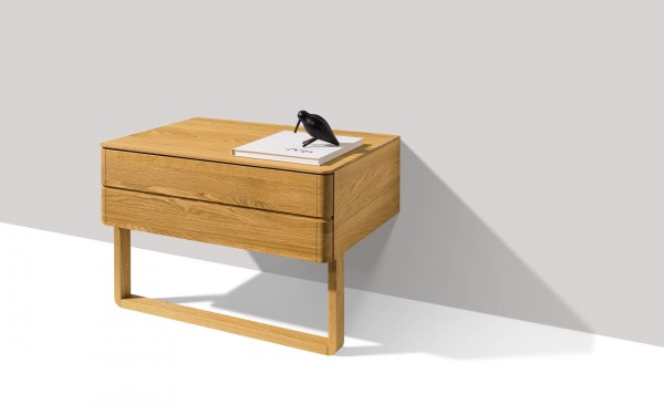 Float bedside cabinet with slide - Image 1