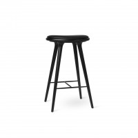High Stool Black stained beech
