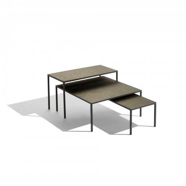 Harry glass coffee and side tables - Lifestyle