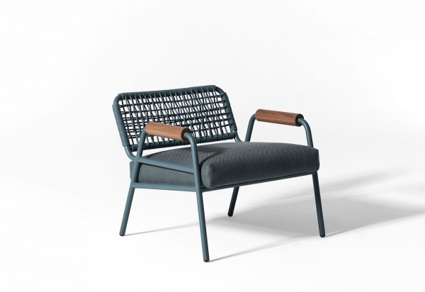 Zoe Wood Open Air Lounge Chair - Image 7