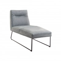 D-Light, chaise lounge with wire skid frame