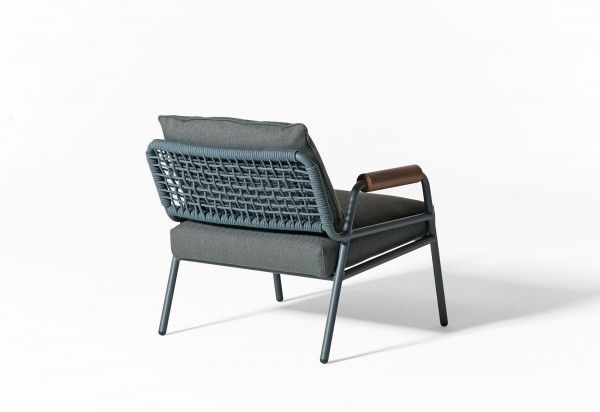 Zoe Wood Open Air Lounge Chair - Image 6