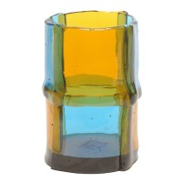 Bamboo vase - Clear Amber, Clear Light Blue