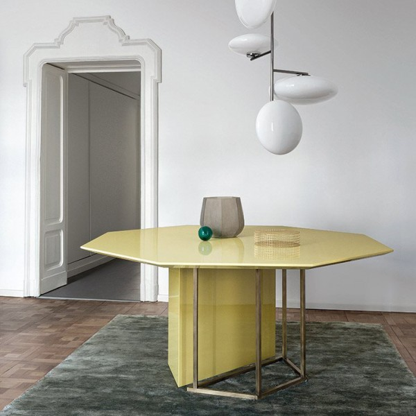 Plinto octagonal ZK Editions dining table - Lifestyle