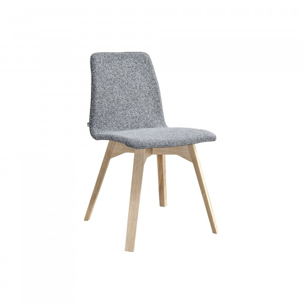 MAVERICK upholstered [4 leg solid wood angular frame] - Image 4