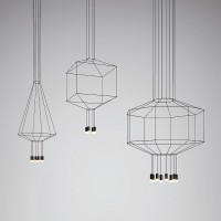 Wireflow Volumetric suspension lamp