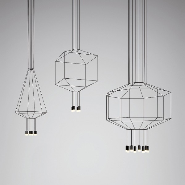 Wireflow Volumetric suspension lamp - Lifestyle