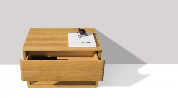 Float bedside cabinet with lower shelf - Image 1
