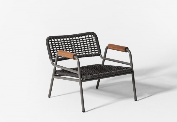 Zoe Wood Open Air Lounge Chair - Image 8