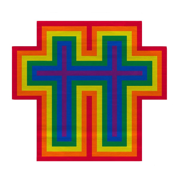 Rainbow Cross for Two, 2018 Rug - Lifestyle