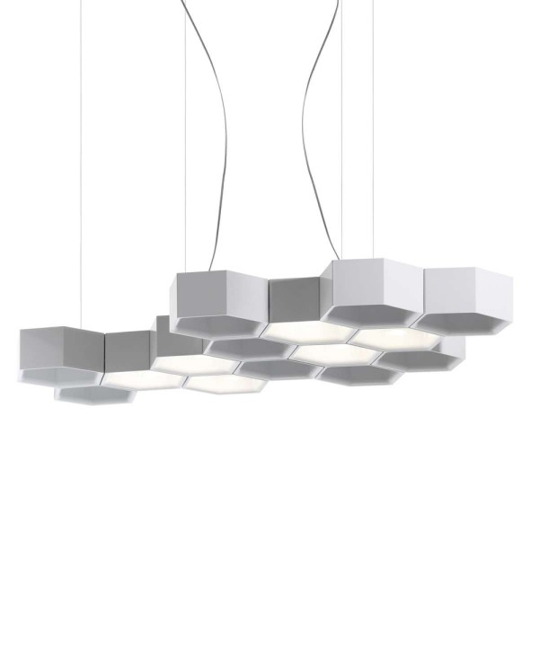 Honeycomb suspension lamp - Image 1