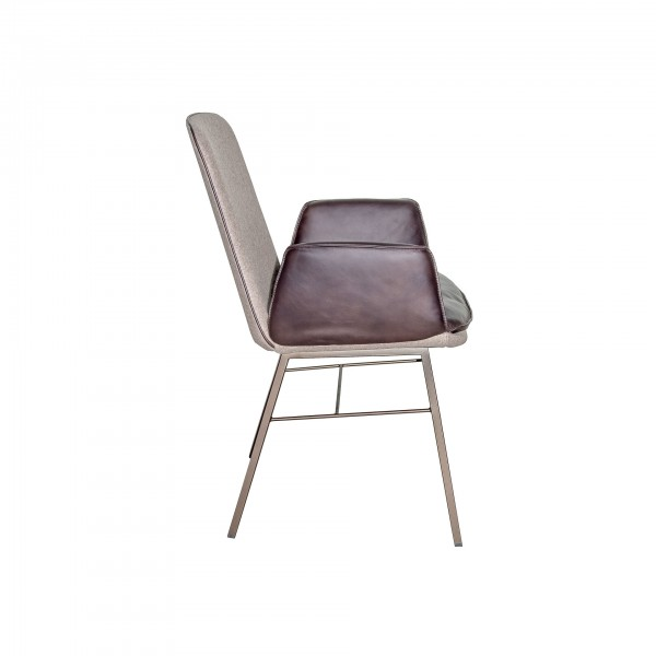 Lhasa chair with 4-leg square steel frame - Image 1