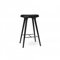 High Stool black stained oak