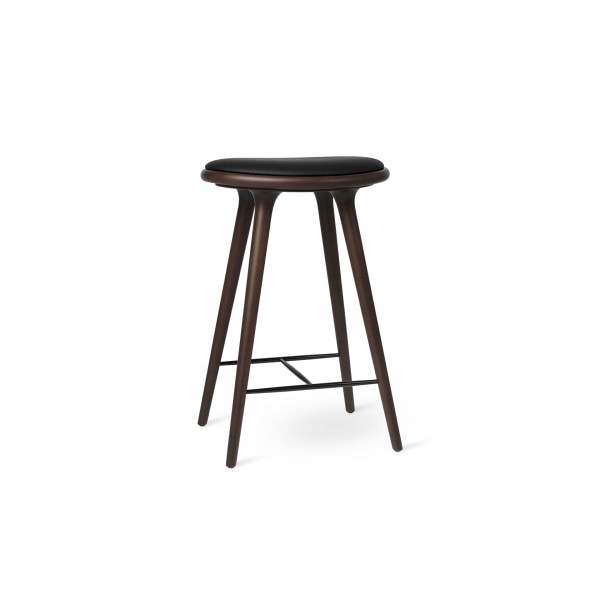 High Stool Dark stained beech - Image 1