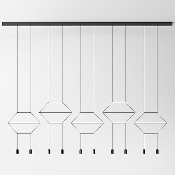 Wireflow Lineal suspension lamp - Image 5