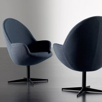 Jill swivel base armchair