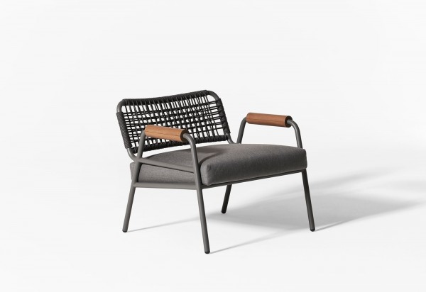Zoe Wood Open Air Lounge Chair - Image 2