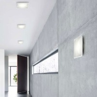 Illusion ceiling and wall lamp