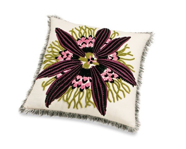 Passion Flower Cushion - Image 1