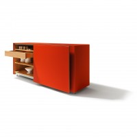 Cubus Pure sideboard with flush-mounted sliding doors