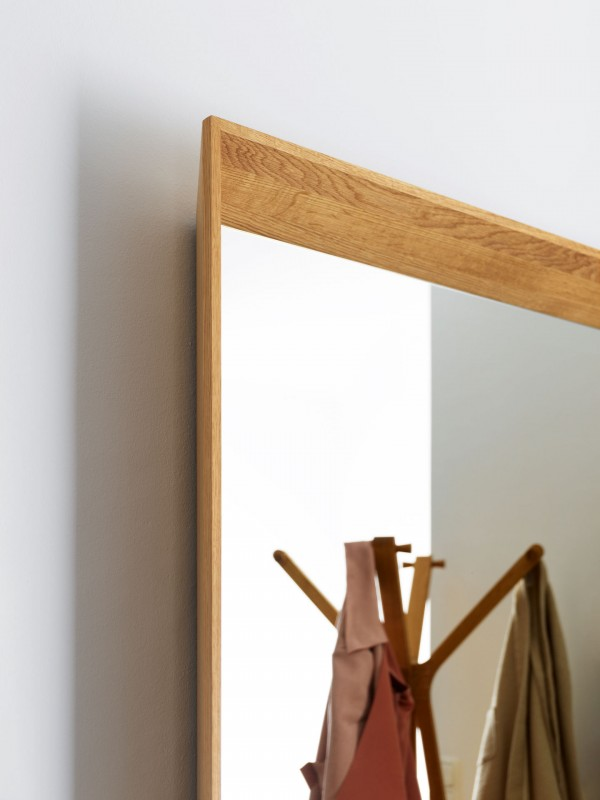 Haiku Framed Mirror Panel with Clothes Rail with Key Dish - Image 3