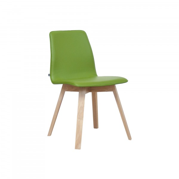 MAVERICK upholstered [4 leg solid wood angular frame] - Image 2