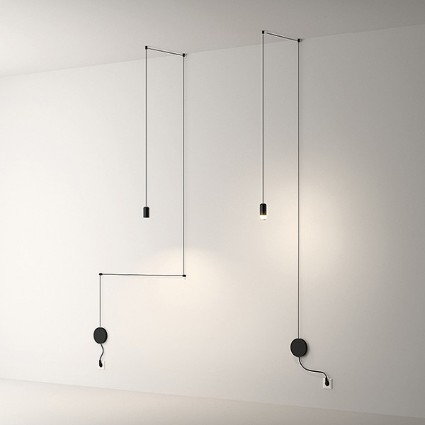 Wireflow Free-Form suspension lamp