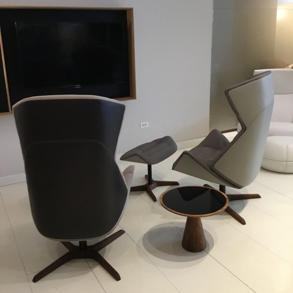 808 lounge chair & ottoman - Image 1