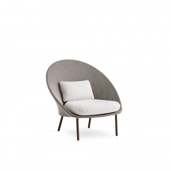 Twins outdoor low armchair - Lifestyle
