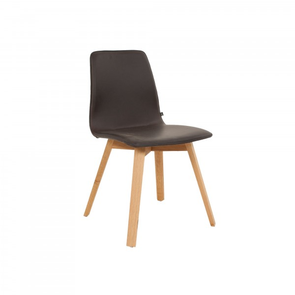 MAVERICK upholstered [4 leg solid wood angular frame] - Image 3