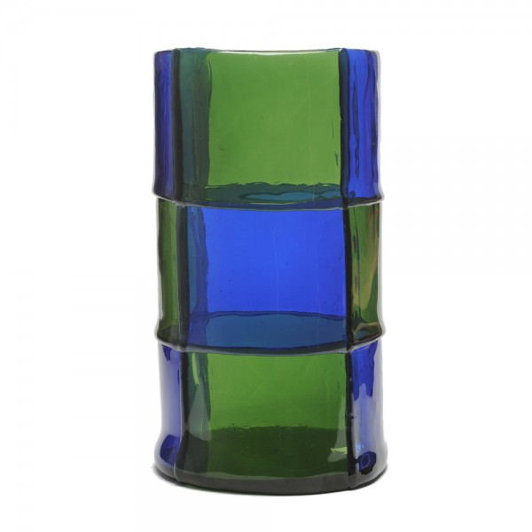 Bamboo vase - Clear Blue, Green - Lifestyle
