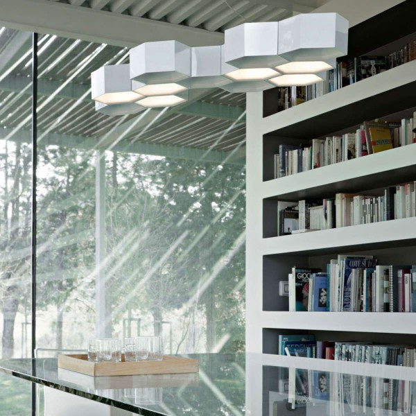 Honeycomb suspension lamp - Lifestyle