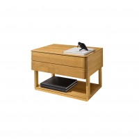 Float bedside cabinet with lower shelf