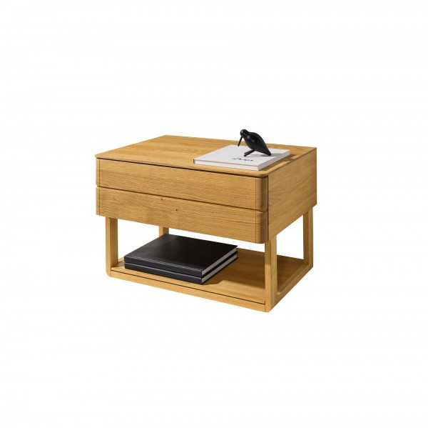 Float bedside cabinet with lower shelf - Lifestyle