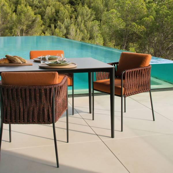 Nido outdoor hand-woven dining armchair - Image 1