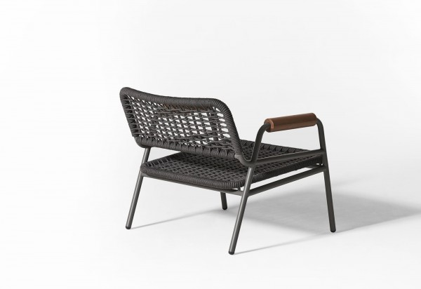 Zoe Wood Open Air Lounge Chair - Image 9