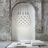 Mesh suspension lamp