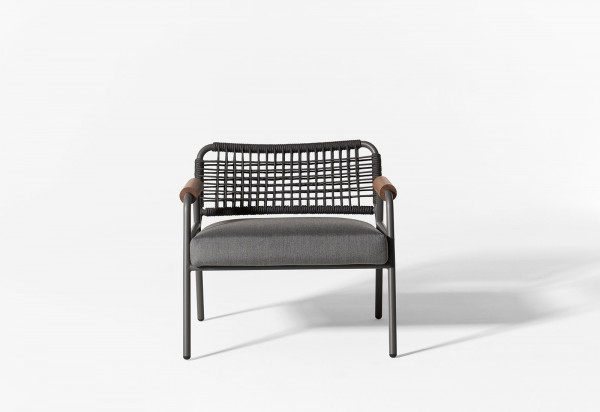 Zoe Wood Open Air Lounge Chair - Image 3