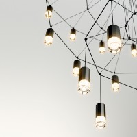 Wireflow suspension lamp