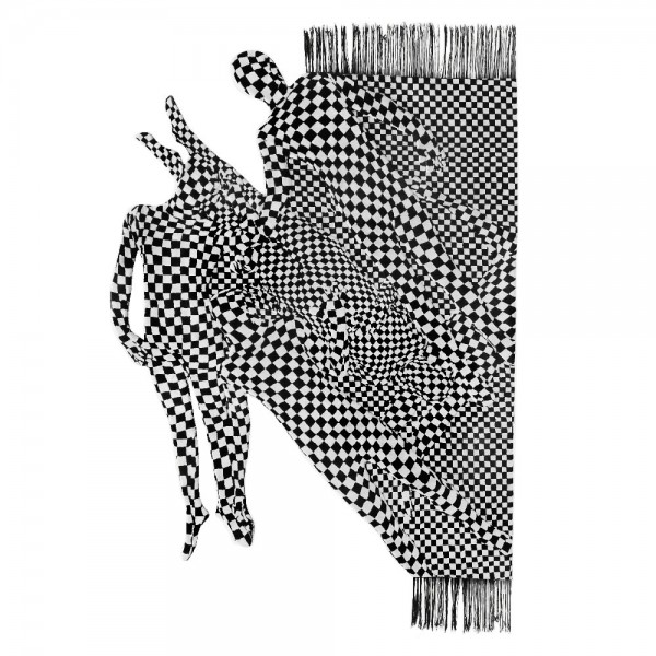 Black and White People Pattern, 2017 Rug
