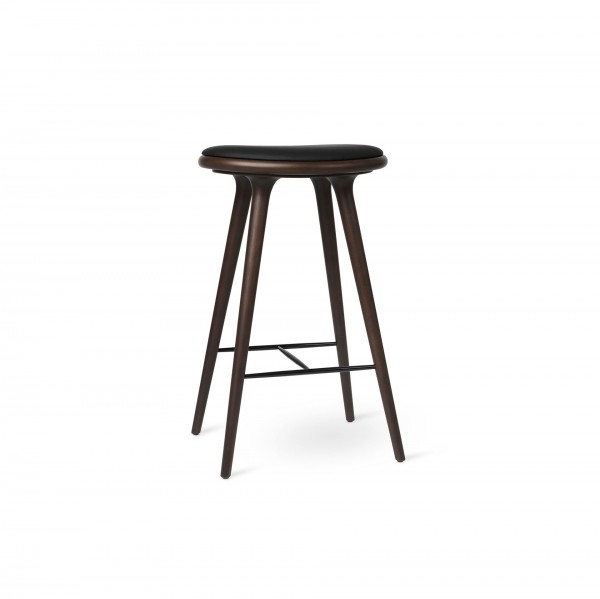 High Stool Dark stained beech