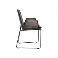 Lhasa chair with wire skid frame