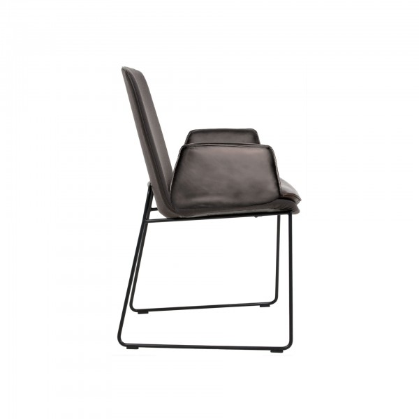 Lhasa chair with wire skid frame - Lifestyle