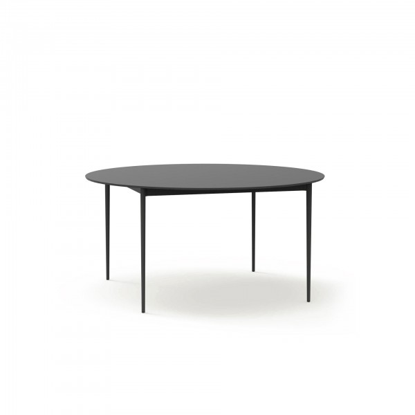 Nude outdoor round dining table - Lifestyle