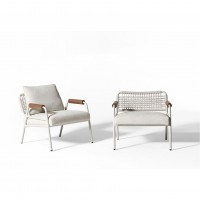 Zoe Wood Open Air Lounge Chair