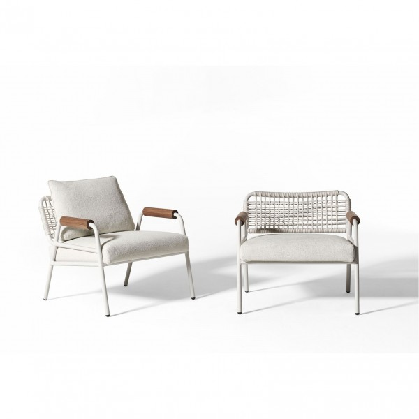 Zoe Wood Open Air Lounge Chair - Lifestyle
