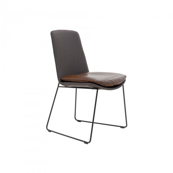 Lhasa chair with wire skid frame - Image 1