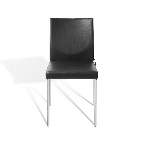 Glooh stackable chair with 4-leg tubular steel frame  - Image 1